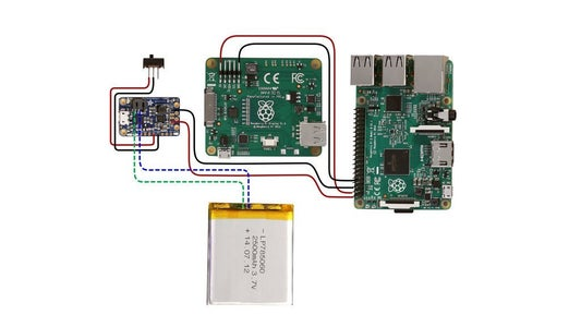 Solder Solid Core Wire Connections to Raspberry Pi and Connect LiPo Battery to PowerBoost1000