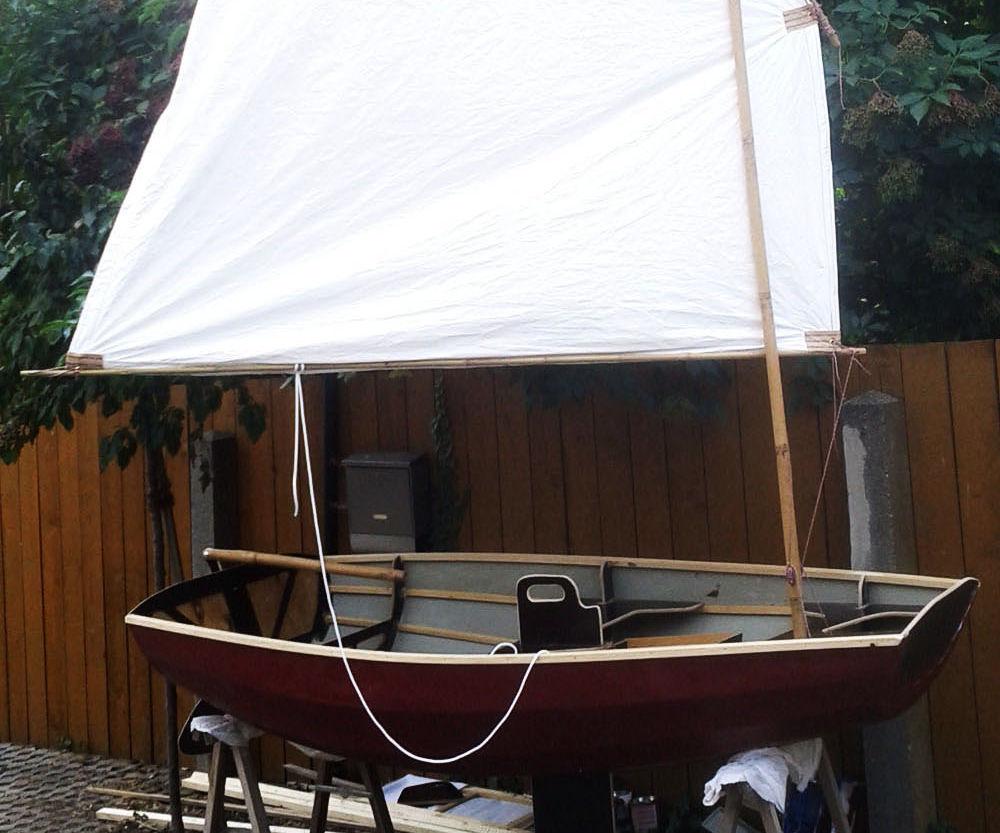 240cm skin on frame sailing pram with Mirage Drive