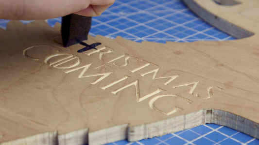 Carve and Paint the Lettering