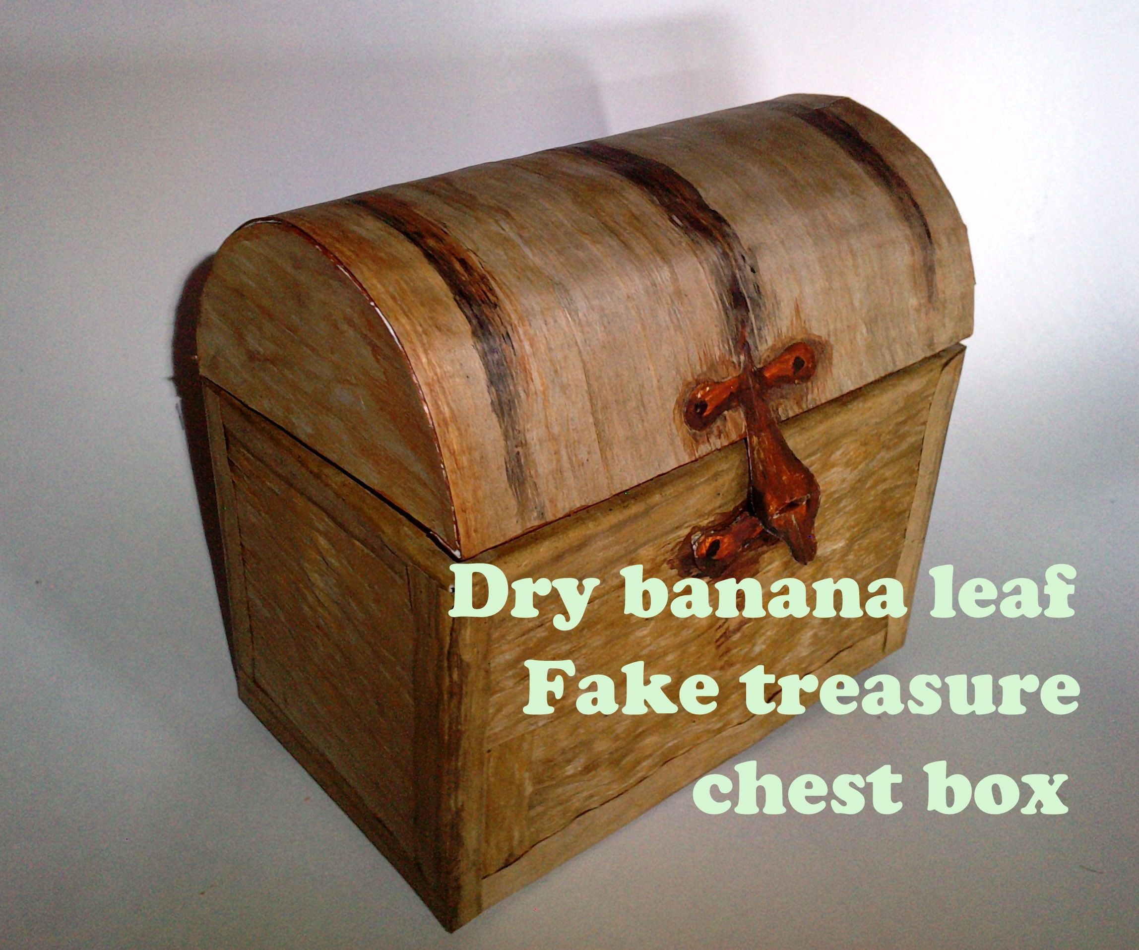 Cheap treasure chest box (REAL wood LOOK)