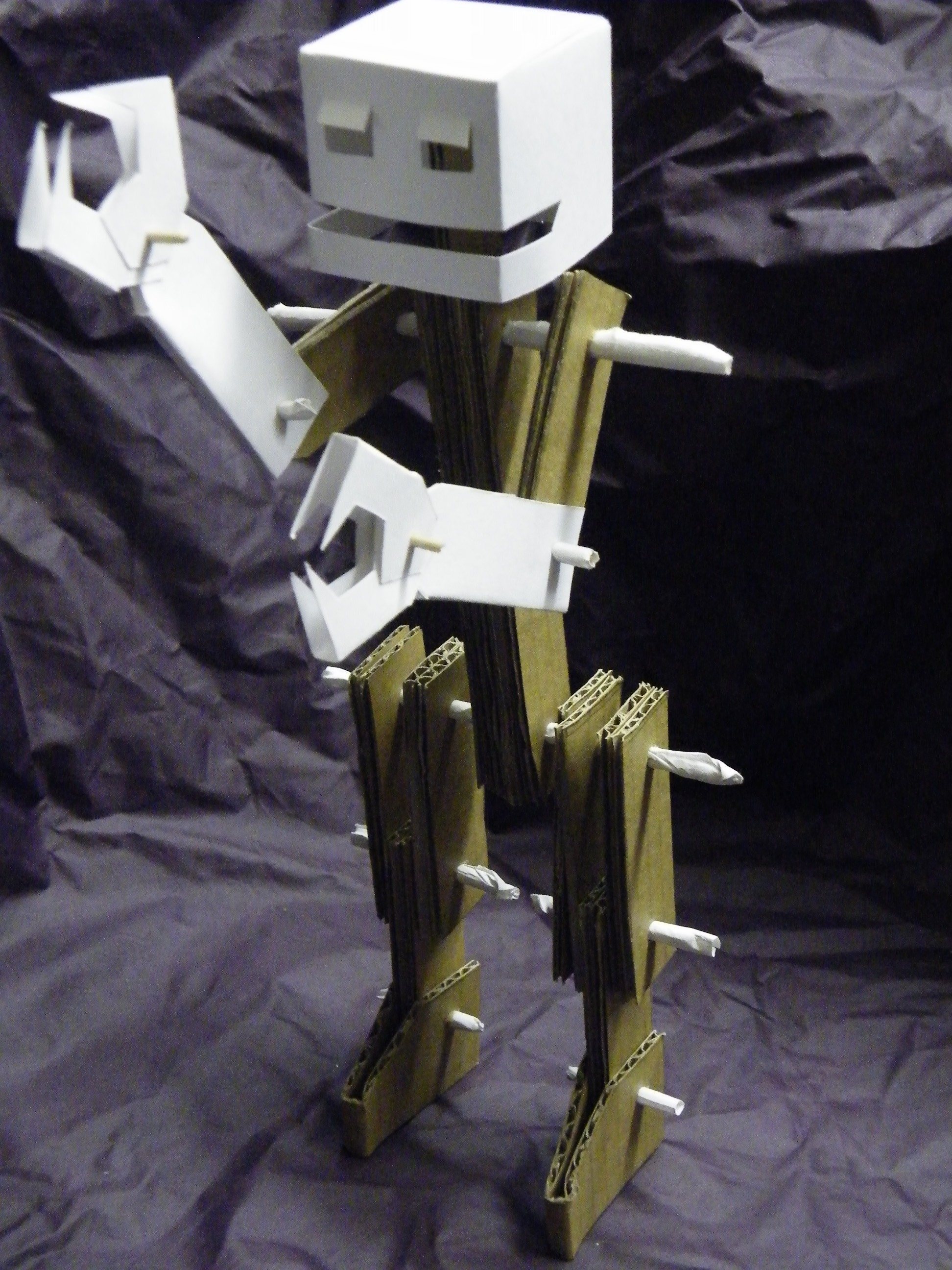 The Glueless, Poseable Cardboard Robot.