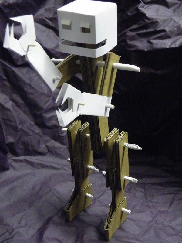The Glueless, Poseable Cardboard Robot.