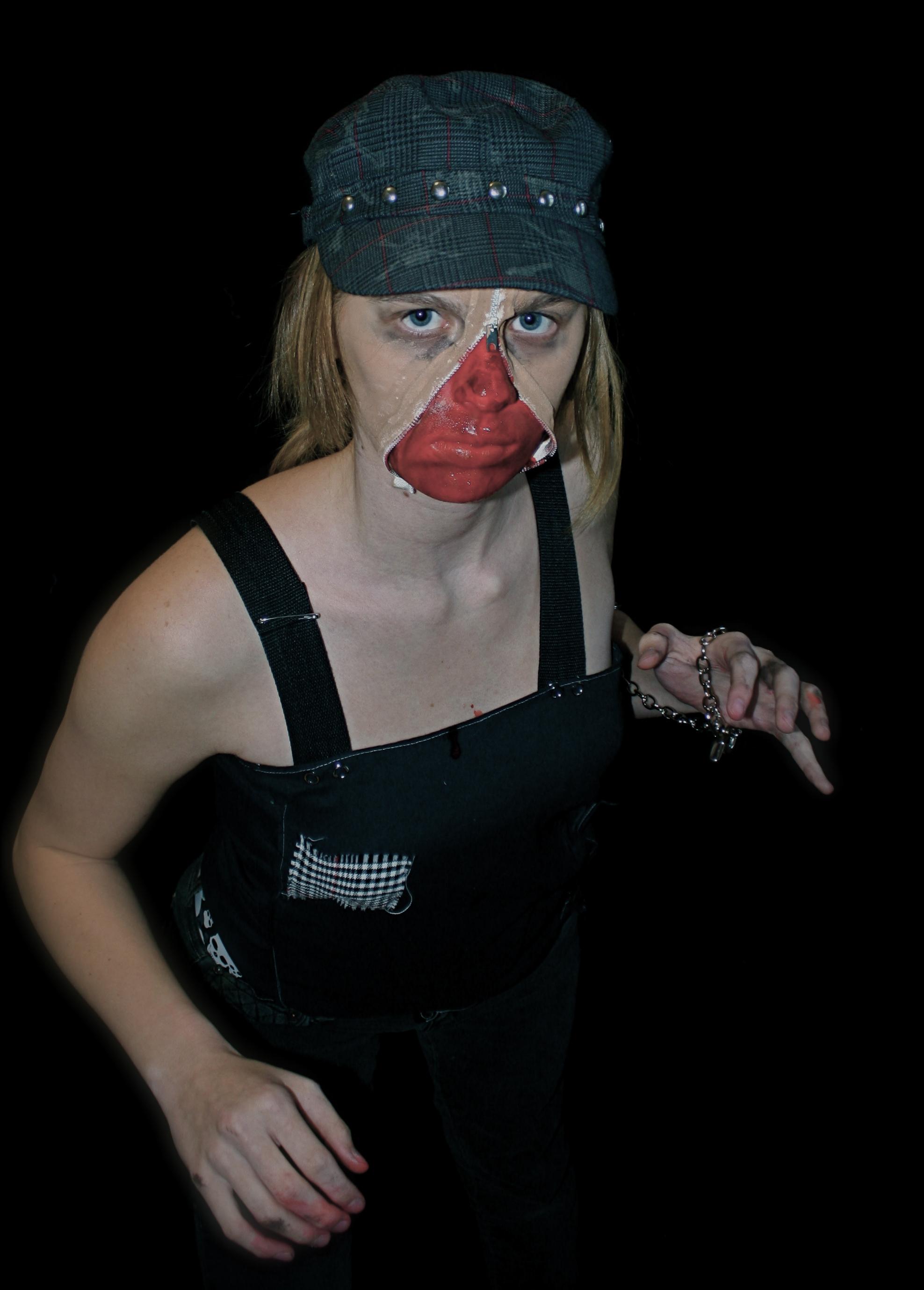 Halloween How-To- Zipper face