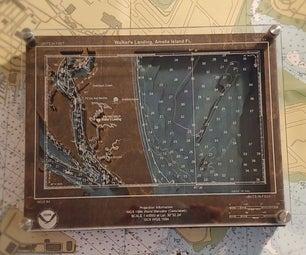 Custom Nautical Chart With Accompanying Bathymetric Contours
