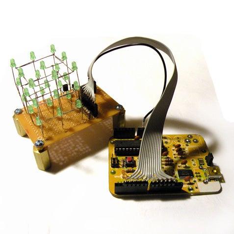 3x3x3 LED Cube With Arduino Lib