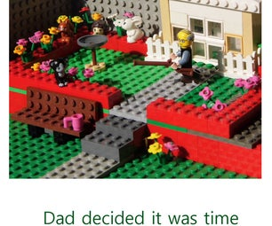Make a Lego Diorama Father's Day Card