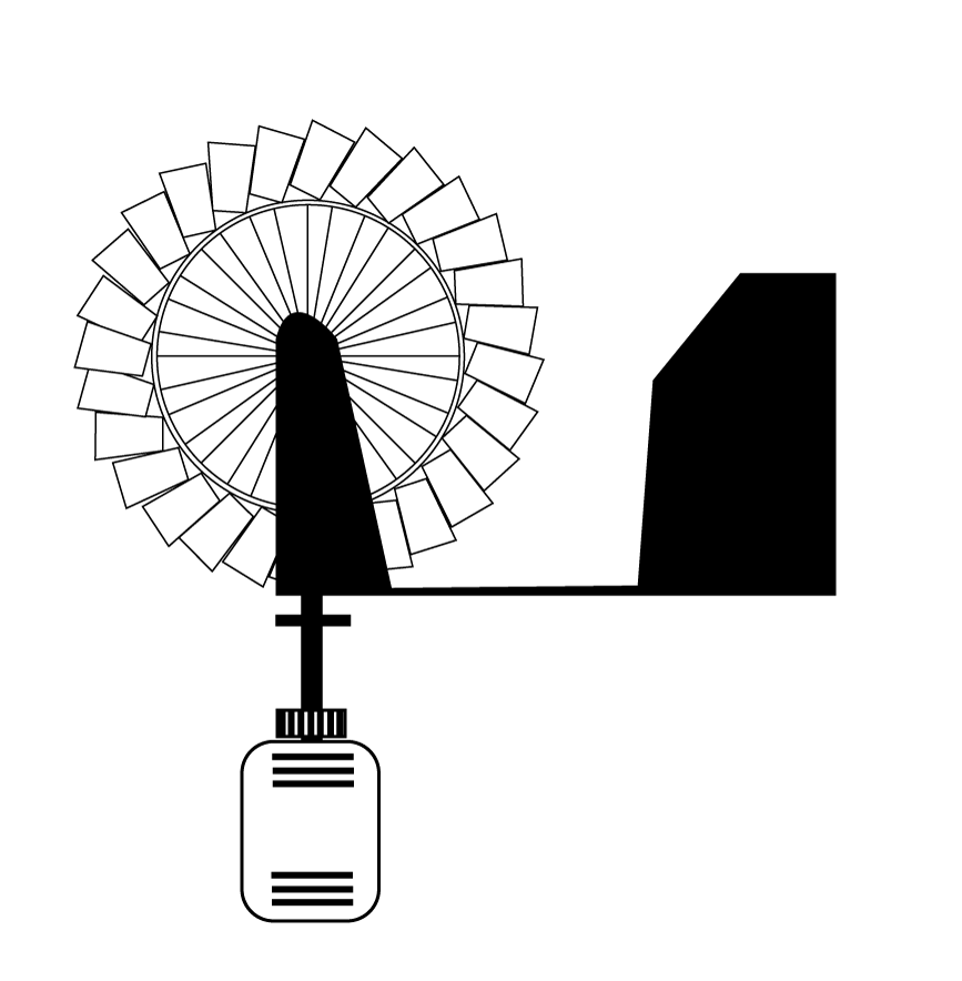 Paper Coffee Cup wind turbine