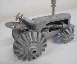 DIY Custom Metal Art Tractor