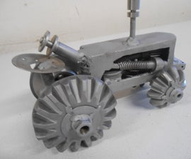 DIY Custom Metal Art Tractor