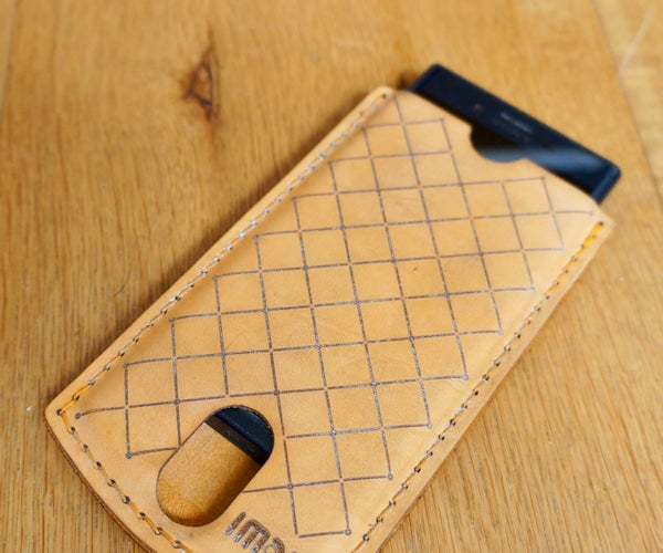 Laser Cut Leather and Wood Phone Case
