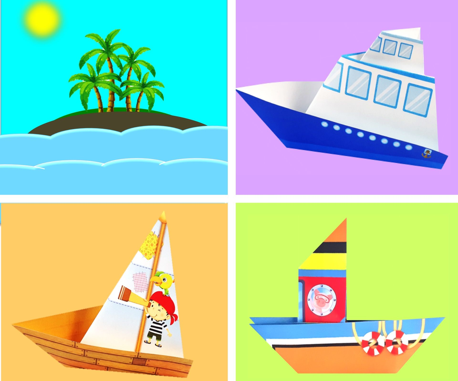 Paper Craft for Kids: Sail Boat, Fishing Boat, Cruise Ship / Just for Fun!