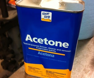 Use Acetone to Prepare Parts for Power Coating
