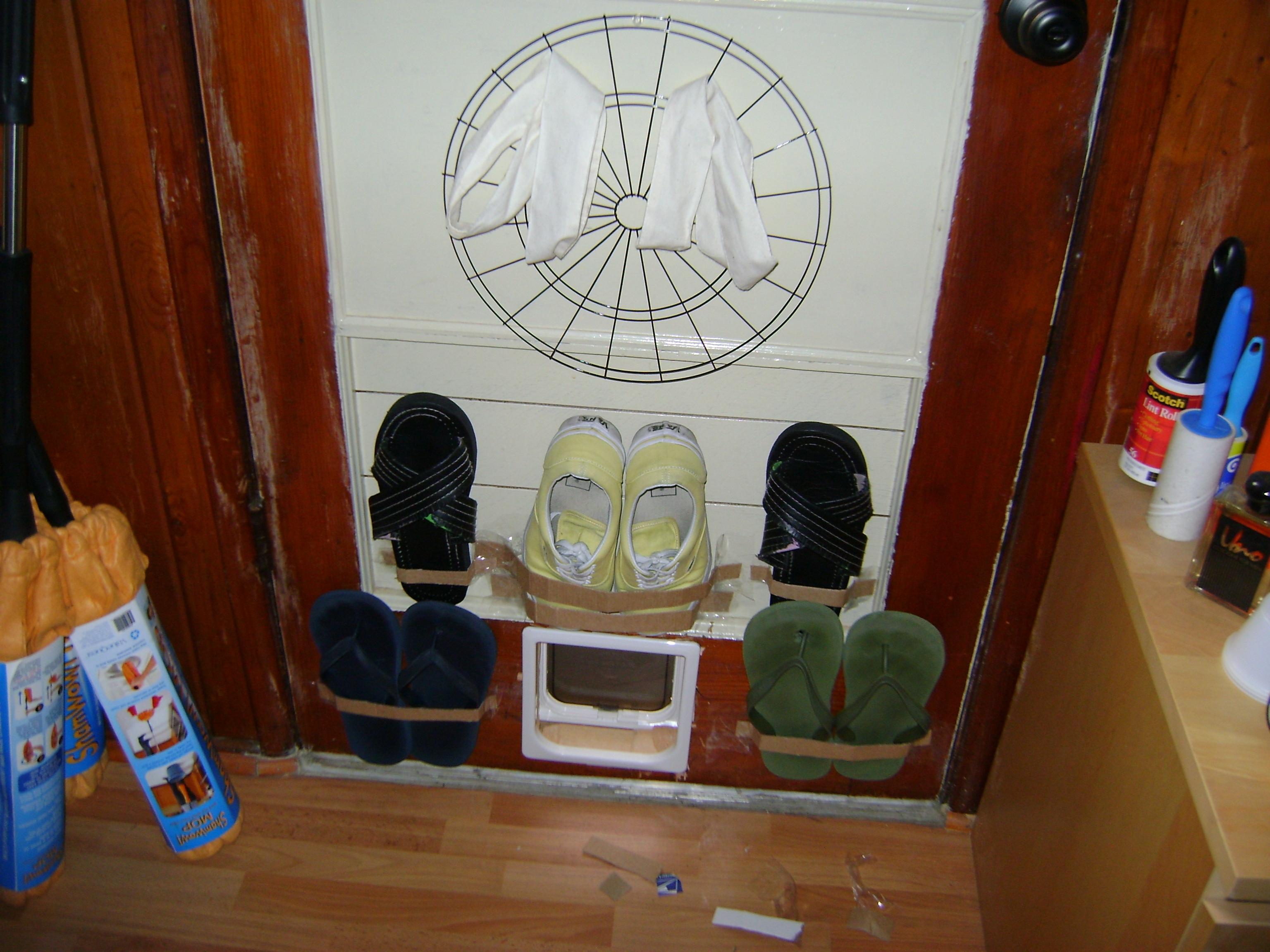 Turn Any Door into a Shoe Rack