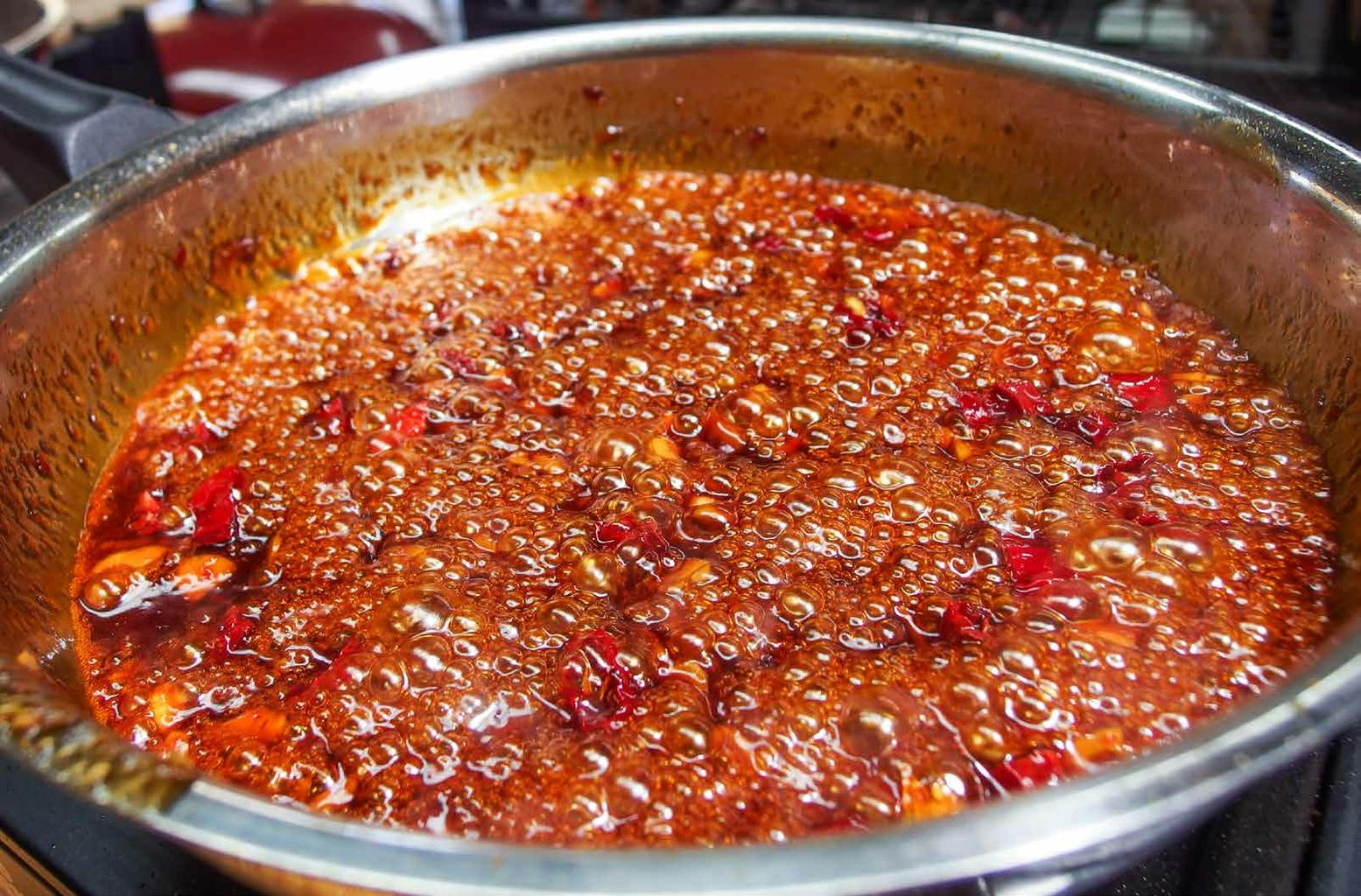 Make the Sticky Chilli Glaze