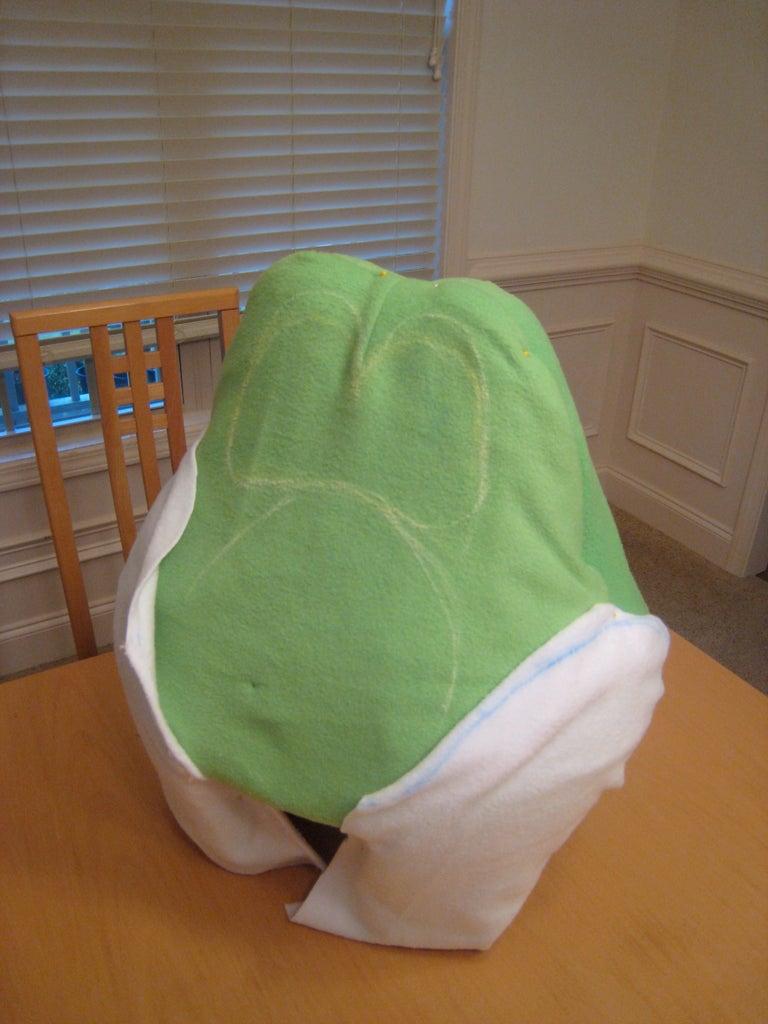 Yoshi Head (Cut and Adjust Fabric)
