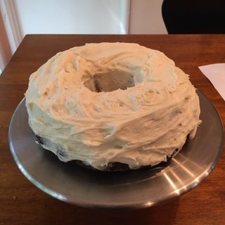 Delicious Chocolate Bundt Cake W/ Cream Cheese Frosting