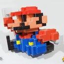 Mario 8 Bit 3d Pixel Paper Art