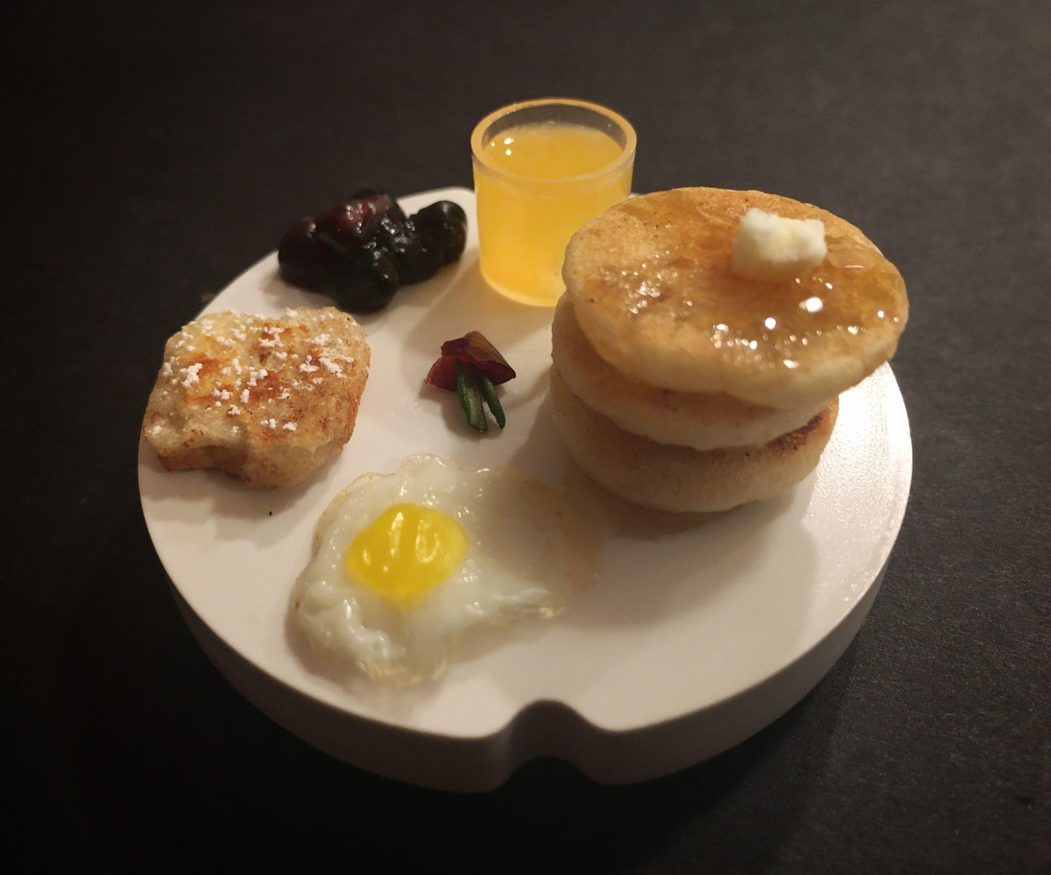 Edible Tiny Pancake Breakfast
