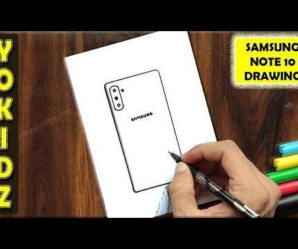 HOW TO DRAW SAMSUNG GALAXY NOTE 10