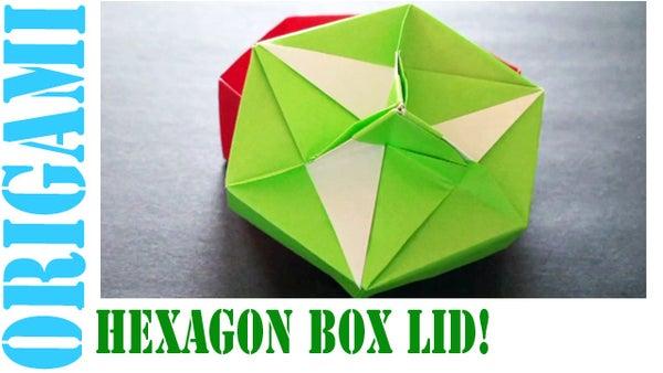 How to Make an Origami Hexagon Box Lid (Modular 3 Unit)