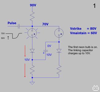 Neon Ring Counter Circuit