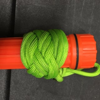 Long Turks Head Knot With Solomons Bar Strap for Walking Stick