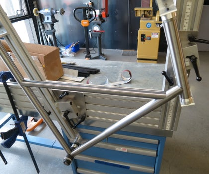 Bicycle Frame Building Jig