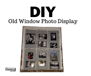 DIY Old Window Photo Display