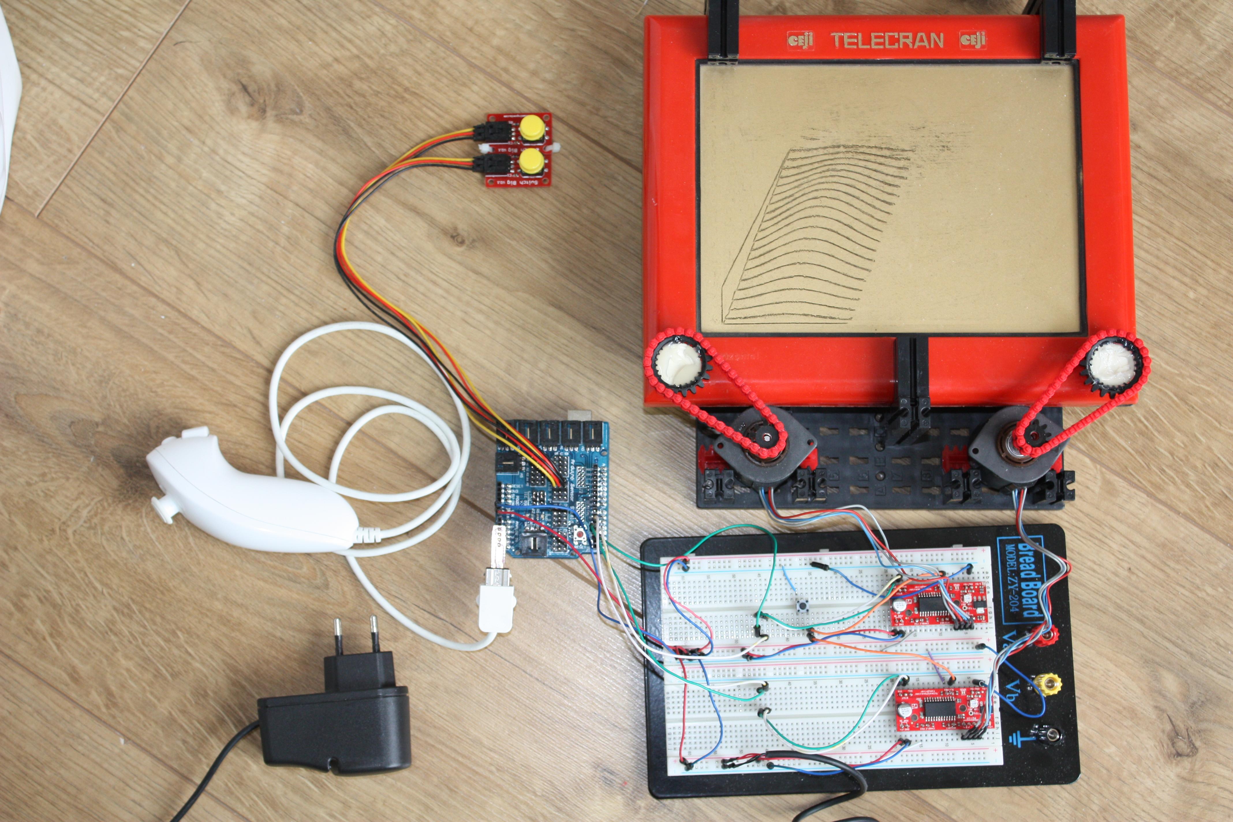 Telecran (Etch a Sketch) + Arduino = Telecranduino !