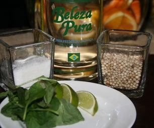 Pepper Basil Caipirinha