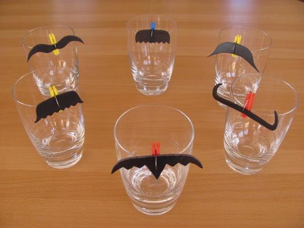 Moustache Glass Markers
