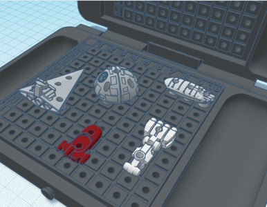 Star Wars Vs Star Trek BattleFleet Game- TinkerCad