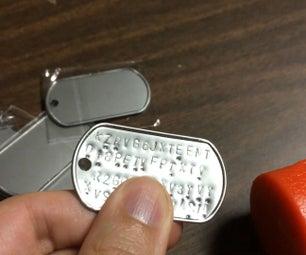 DIY比特币冷藏:冲压不锈钢狗标签