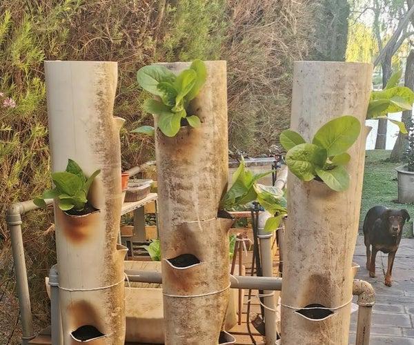 Vertical PVC Garden