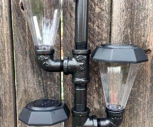 Solar Powered Pipe Light