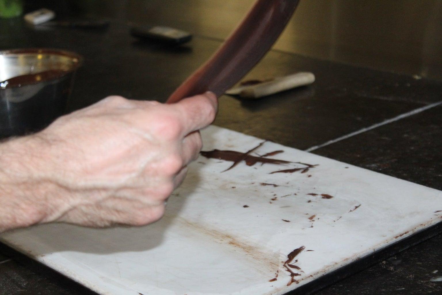 Chocoladestrook Laten Opstijven.