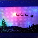 LED Backlit Pin-Hole Holiday Card