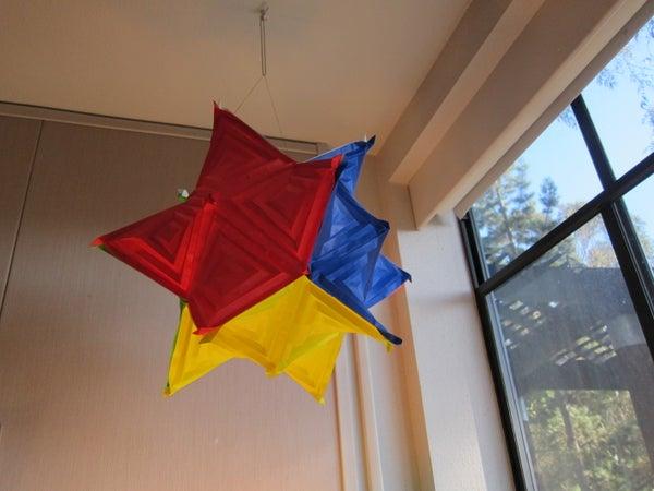 "Paper ""Cube"" Made of Hyperbolic Paraboloids - Modular Math Origami"