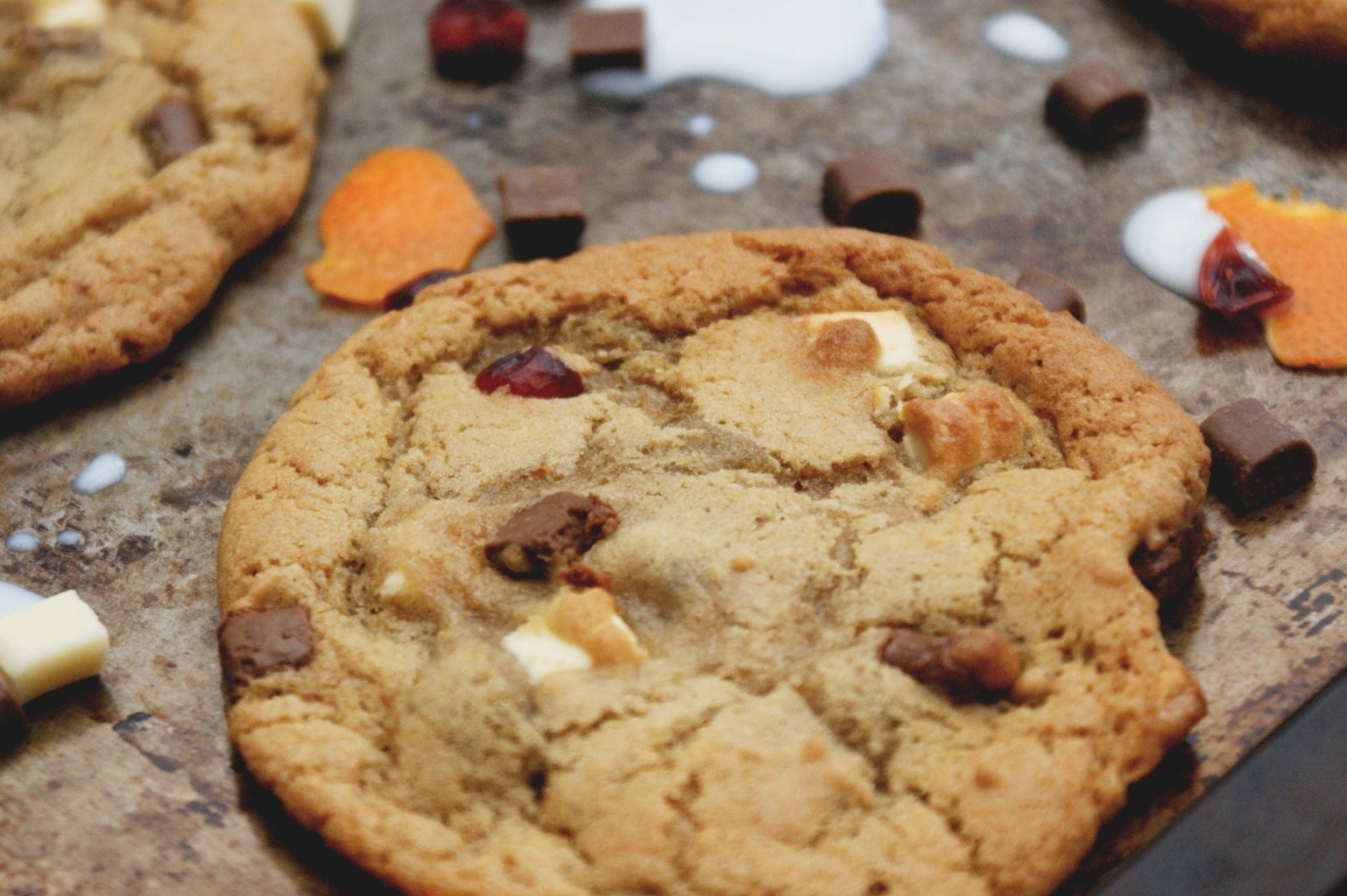 Chewy Cranberry & Orange Chocolate Chunk Cookies