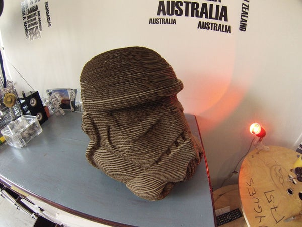 Star Wars Stormtrooper Cardboard Laser Cut 123d Make!