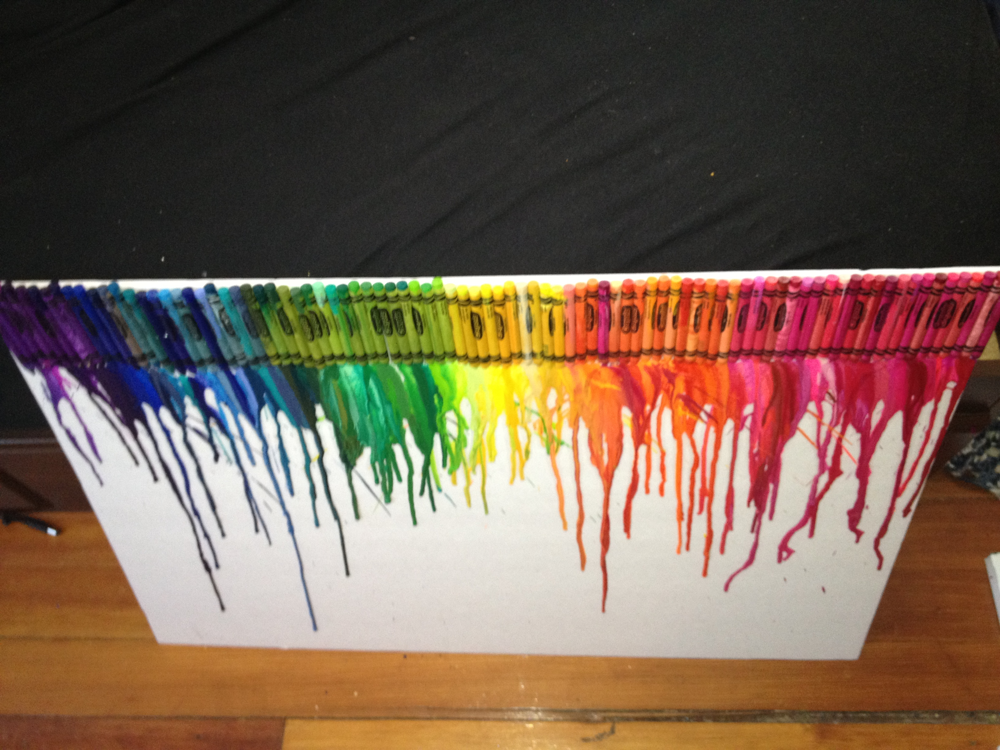 crayon art on cardboard