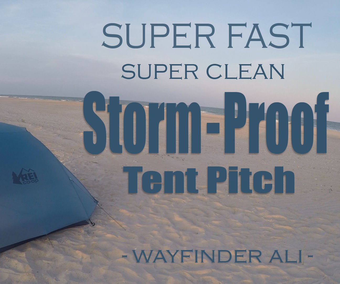 Fast, Efficient, CLEAN Tent Set-up