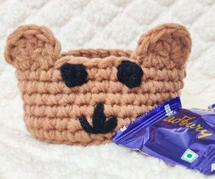 Teddy Bear Crochet Basket