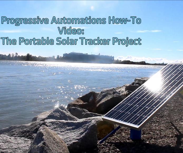 DIY Portable Single Axis Solar Tracker