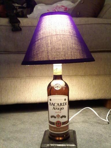 Booze Bottle Lamp