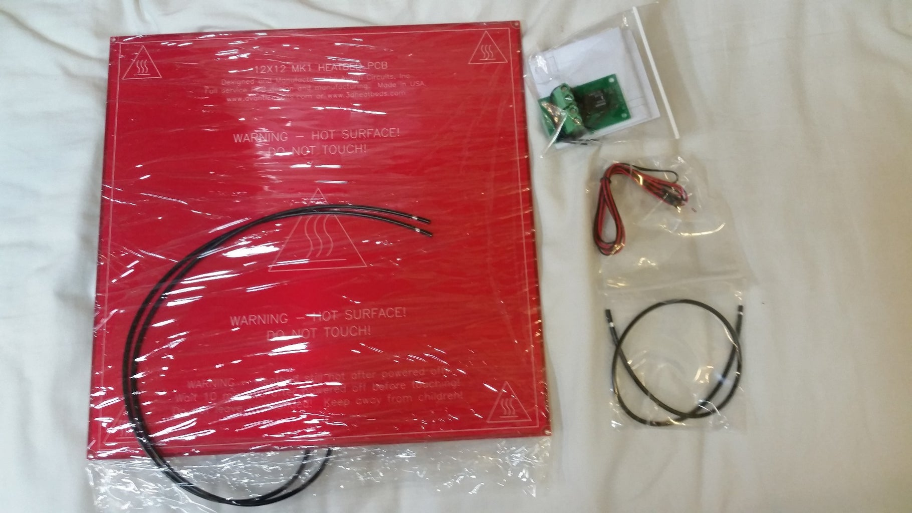 LCD Assembly, Ramps 1.4, and Endstops, Misc. Electronics