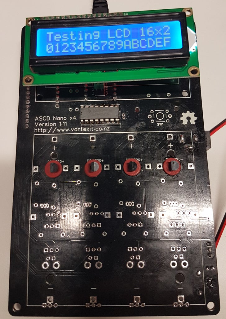 Test and Adjust the LCD Screen Contrast / Serial Jumpers