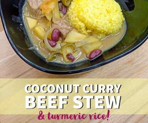 椰子咖喱炖牛肉!