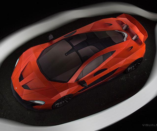 McLaren P1 DIY Paper-Super-Craft