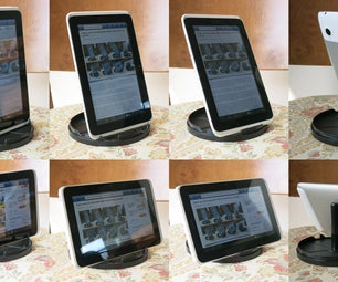 Super Easy Free Adjustable Tablet-Stand From Cd Spindle